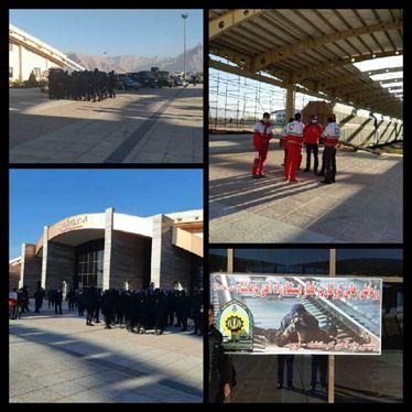 رزمایش رهایی گروگان در ایستگاه راه آهن کرمانشاه برگزار شد