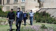 بازدید اعضای کمیسیون اقتصادی، املاک، سرمایه گذاری و گردشگری شورای اسلامی شهر اراک، از ملک حاج باشی واقع در خیابان عضد