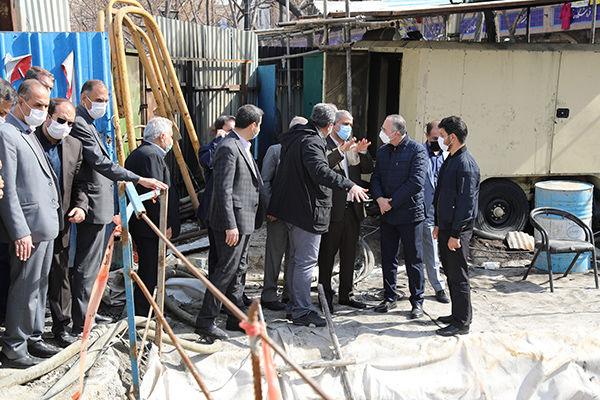 بررسی آخرین وضعیت اجرایی زیرگذر چهارراه گلوبندک