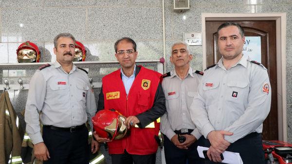تقدیر از آتش نشانان ایستگاه 33 منطقه9