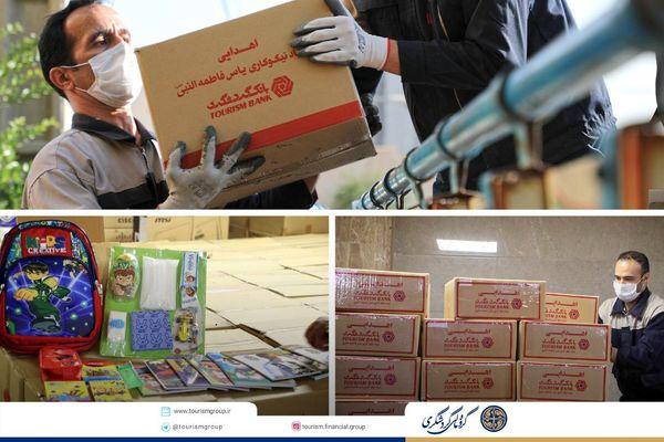 توزیع 50 بسته حمایتی به یتیمان منطقه زهکلوت
