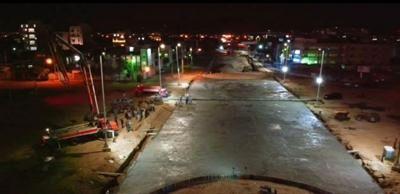 ثبت بزرگترین رکورد در بتن ریزی پروژه های عمرانی شهر اراک