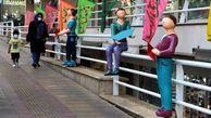 نصب المان های شهری با موضوع کودکان در خیابان بهار