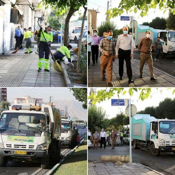 اجرای طرح پنجشنبه های نگهداشت شهر در افسریه خیابان چهارم خیابان نیکوعمل