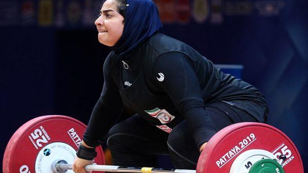 وزنه بردار زن ایرانی سهمیه المپیک گرفت