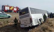 واژگونی مرگبار اتوبوس در اتوبان قم