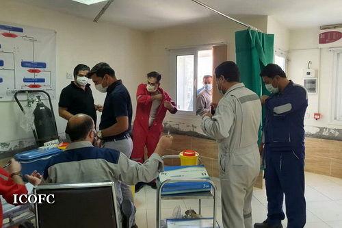 واکسیناسیون کارکنان شرکت بهره برداری نفت و گاز غرب آغاز شد