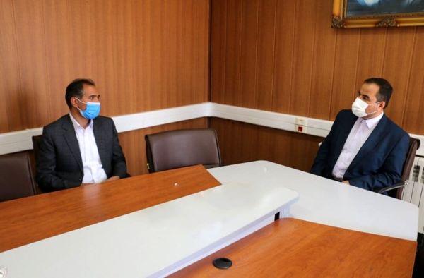 دیدار سرپرست مخابرات منطقه مرکزی با فرماندارشهرستان تفرش