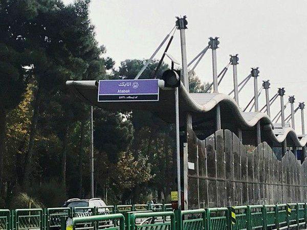 نوسازی تابلوهای ایستگاه در خطوط اتوبوس تندروی منطقه 15