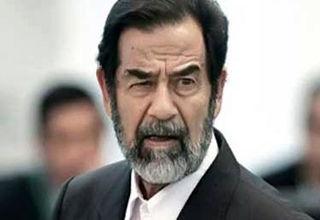 عکس یادگاری مجری تلویزیون کنار قبر صدام + عکس