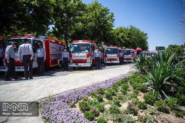 رونمایی از تجهیزات جدید سازمان آتش نشانی اصفهان