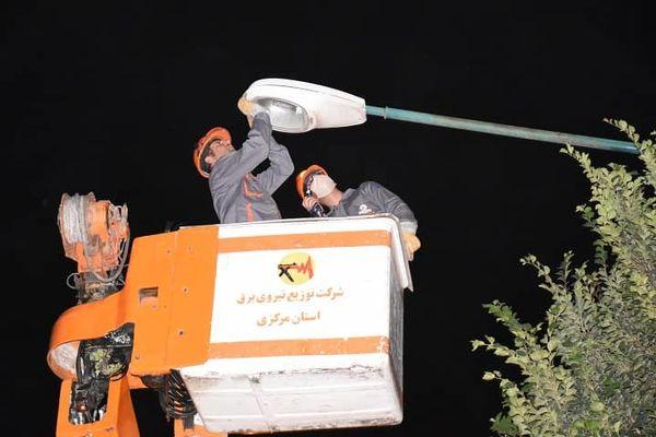 سرویس بیش از 4هزار  دستگاه چراغ روشنایی معابر در دلیجان