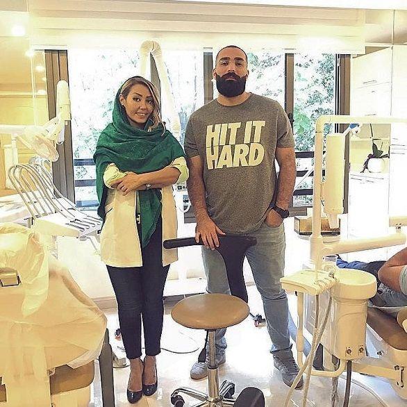 حمید صفت چند روز پس از آزادی در مطب خانم دکتر معروف+عکس