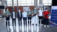 تیم های شمیشر بازی،بدمینتون و دوچرخه سواری وارد فرودگاه شدند