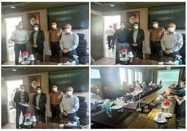 تقدیر از رابطین دفتر مدیریت بحران و HSE در شرکت آب و فاضلاب استان مرکزی