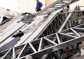 جمع آوری دیوار چینی غیر مجاز در خیابان دمشق