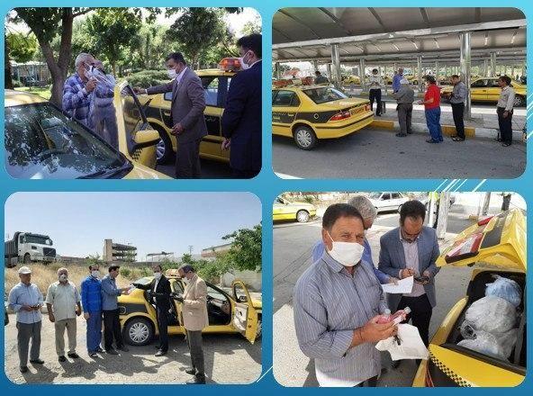 توزیع 400 کاور جداکننده رایگان بین رانندگان تاکسی منطقه 15