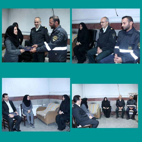 پاکدستی نگهبان یگان حفاظت شهرداری منطقه9