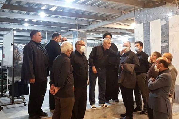 بازدید از آخرین وضعیت پروژه مرمت و بازسازی مسجد تاریخی ارک