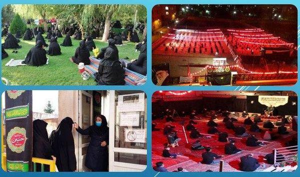 عزاداری پرشکوه شهروندان منطقه 15 در بوستان ها و اماکن روباز شهری