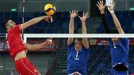 پیروزی والیبال ایران مقابل قزاقستان