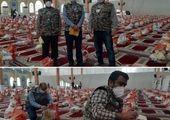 ۱۰۰ سبد کالا معیشتی کمک مومنانه در منطقه۹ توزیع شد.