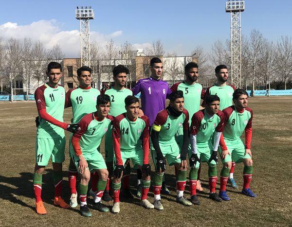 ترکیب تیم فوتبال جوانان در دیدار با نساجى