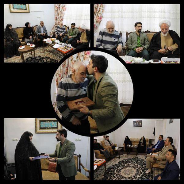 دیدار سرپرست شهرداری منطقه9 با خانواده شهیدان مشایخی
