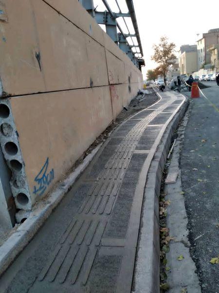 احداث 50 متر مربع پیاده روسازی روزانه در منطقه 17