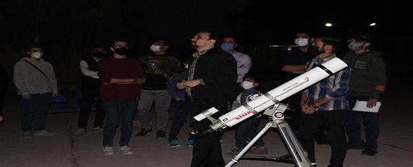 کارگاه رصد آسمان شب در دانشگاه صنعتی قم برگزار شد
