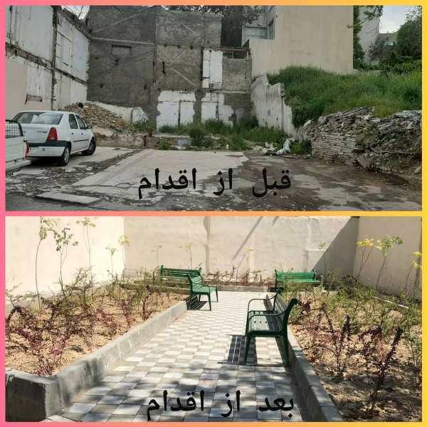 احداث پاتوق محلی در زمین متروک محله ده ونک