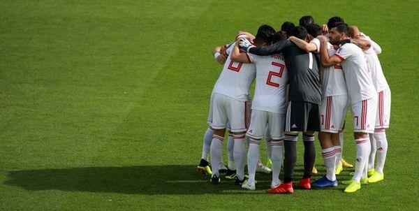 برگزاری آخرین تمرین تیم ملی فوتبال