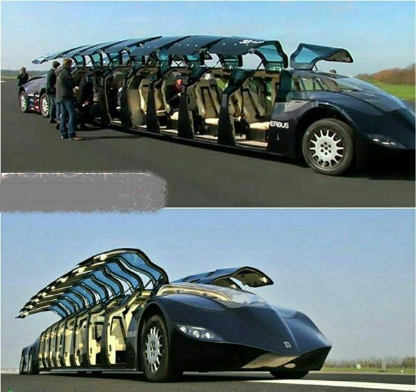 ماشین شیخ عرب با قابلیت حمل 23نفر+عکس