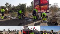 خدمات دهی بی وقفه شهرداری منطقه ۱۳ به زائران اربعین حسینی در مرز خسروی