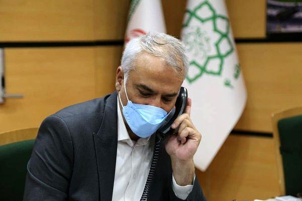گفتگوی تلفنی 131 نفر از شهروندان با شهردار منطقه 4 در جلسه ارتباط مستقیم 1888