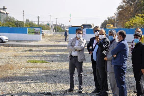 استمرار بازدیدهای میدانی از پروژه احداث محور شارباغ