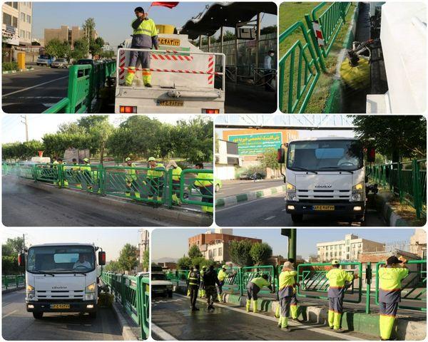 اجرای طرح پنجشنبه های نگهداشت شهر در خیابان خاوران