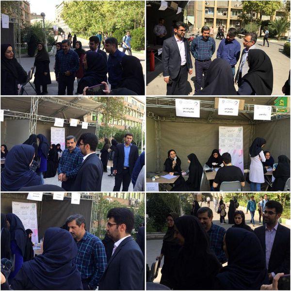 برپایی غرفه سلامت توسط شهرداری ناحیه یک منطقه شش در دانشگاه امیرکبیر