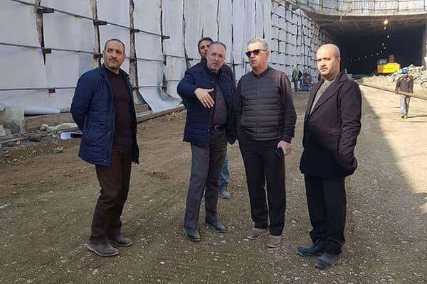 بازدید مدیرکل دفتر شهردار تهران از پروژه احداث زیرگذر کوی نصر