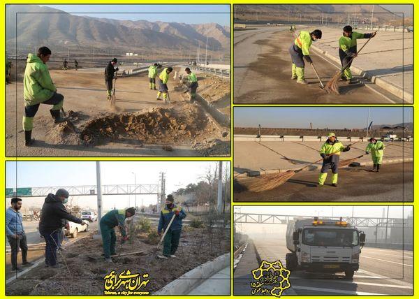 اجرای طرح پنجشنبه های نگهداشت شهر در  بزرگراه شهید نجفی رستگار