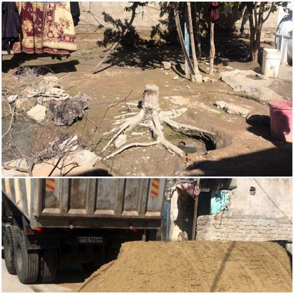 عملیات تخلیه آب خانه های کنارک دیروز پایان یافت