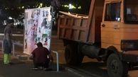 پاکسازی  20هزارمترمربع  تبلیغات انتخاباتی ازمعابر منطقه2 پایتخت