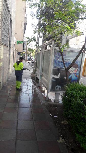 بیش از 260 سرپناه ایستگاه اتوبوس در شمال شرق تهران ضدعفونی شد