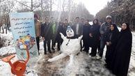 جشنواره آدم برفی در بوستان جنگلی سرخه حصار برگزار شد