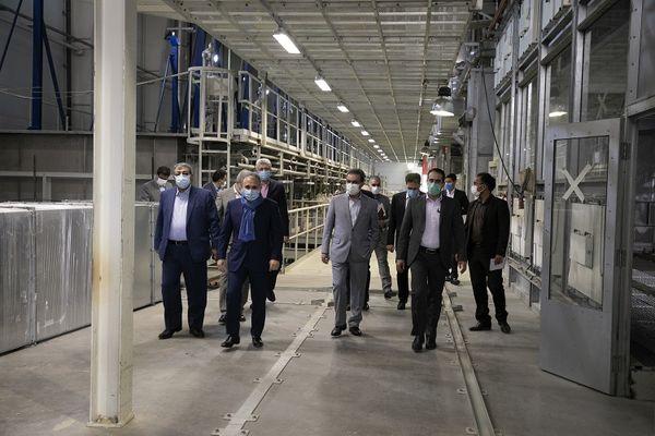 بازدید مدیرعامل بانک ملت از گروه صنعتی ماموت