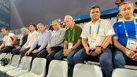 حضور رئیس کمیته ملی المپیک و سرپرست فدراسیون در دیدار نیمه نهایی ساحلی