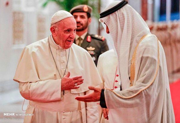 سفر رهبر کاتولیک های جهان به امارات + عکس