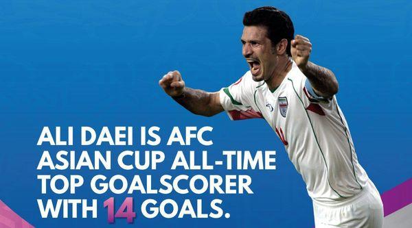 ادامه صدرنشینی علی دایی در جام ملت های آسیا