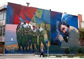 رنگ آمیزی جداره و مبلمان های شهری در شمال شرق تهران