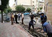 تجدید خط کشی بزرگراه شهید همت در منطقه سه